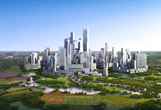 Great City The entire city will be built from scratch on farmland near Chengdu, China. © Adrian Smith + Gordon Gill Architecture
